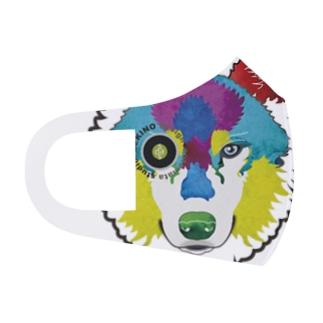 狼-絵具 Full Graphic Mask
