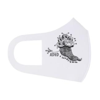 ADHD星人(ロゴ入り) Full Graphic Mask