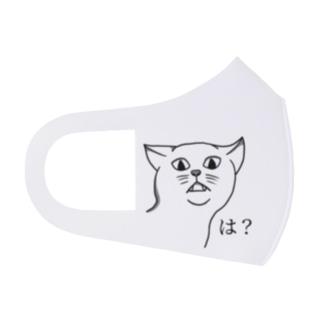 可愛くない猫 Full Graphic Mask