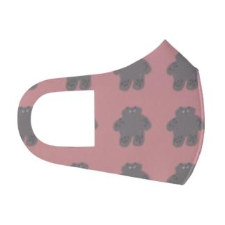 pink kumasan Full Graphic Mask