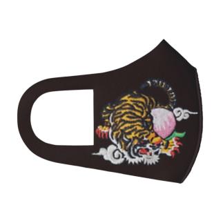虎と桃 Full Graphic Mask