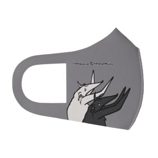 不器用ばんざい ボルゾイ Full Graphic Mask
