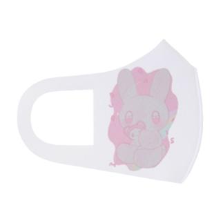 ウサギ・パターン・ファンシー(☆) Full Graphic Mask