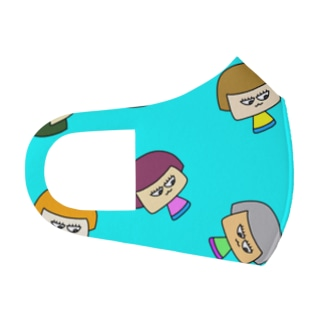 マスクおかっぱちゃん Full Graphic Mask