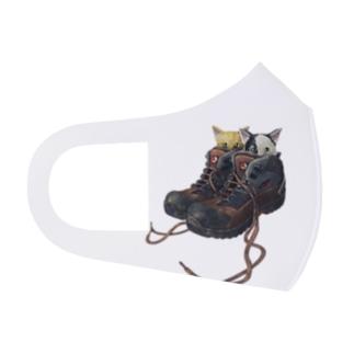 くつねこ Full Graphic Mask