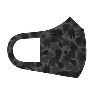 Tooth camo ジェットブラック Full Graphic Mask