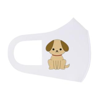 大きな耳のワンちゃん Full Graphic Mask