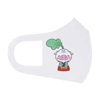 充実夜祭のかぶた仙人のひとやすみ Full Graphic Mask