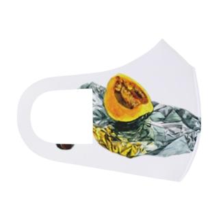 かぼちゃとアルミホイル(枠なしver) Full Graphic Mask