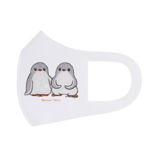 ふたごのジェンツーペンギン(ロゴあり) Full Graphic Mask