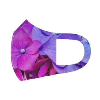 紫陽花のヴェール Full Graphic Mask