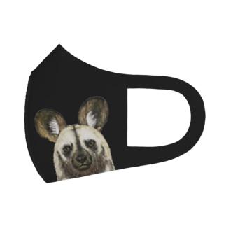 リカオンが見てる黒いマスク Full Graphic Mask