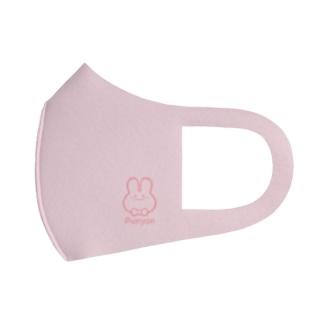 ワンポイントぷにょん。-pink- Full Graphic Mask