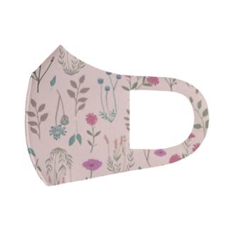花柄pink Full Graphic Mask