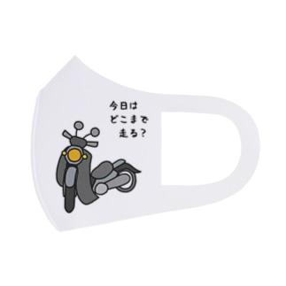 マスク(クロス・グレー) Full Graphic Mask