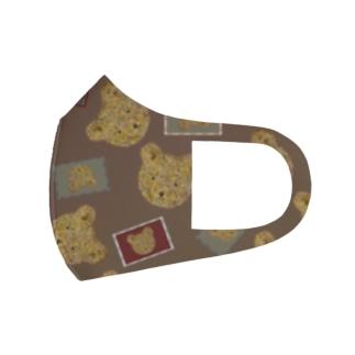 カントリーテディベア茶 Full Graphic Mask