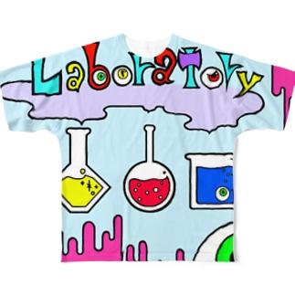 危機的実験室 PINK Full graphic T-shirts