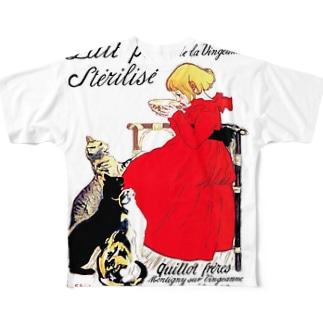スタンラン『 ヴァンジャンヌの殺菌牛乳のポスター 』 フルグラフィックTシャツ