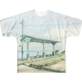 下灘駅 Full graphic T-shirts