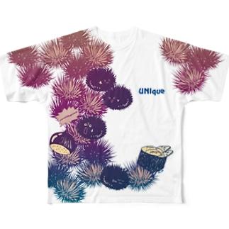 うにーく!ドリーミーブルー Full graphic T-shirts
