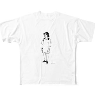 メンズ フルグラフィックTシャツ