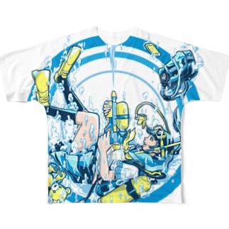 Dive Shot ! フルグラフィックTシャツ