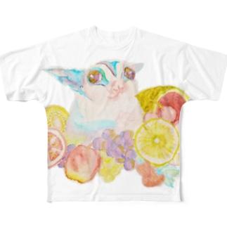フクロモモンガVer.8 Full graphic T-shirts