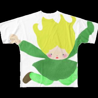 キューカンバー・ガールのキューカンバー・ガール (skydive) Full graphic T-shirts