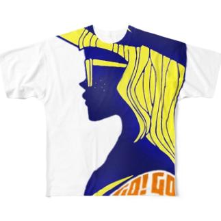 キューカンバー・ガール(GoGo) フルグラフィックTシャツ