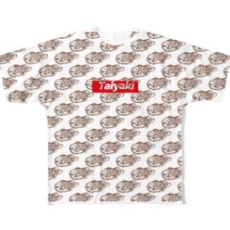Taiyaki たい焼き大好き Full graphic T-shirts