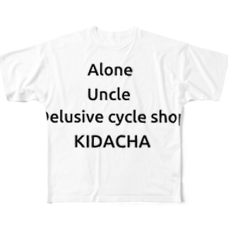 alone uncle Delusive cycle shop  KIDACHA Full graphic T-shirts