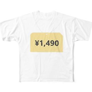 タグ付きTシャツ フルグラフィックTシャツ