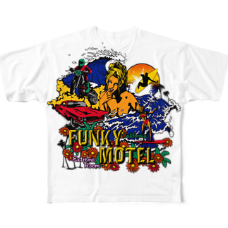 JOKERS FACTORYのFUNKY MOTEL Full graphic T-shirts