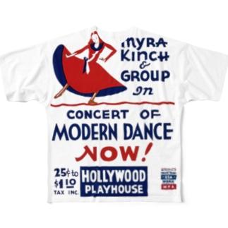 Vintage Dance Poster:ヴィンテージ・ダンスポスター フルグラフィックTシャツ