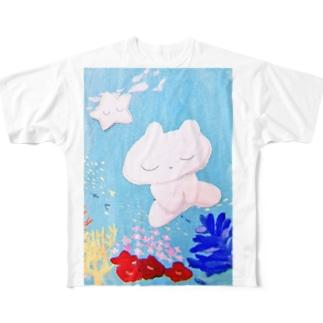 おやすみせかい Full graphic T-shirts