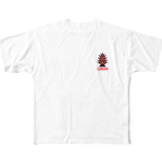 焚火 Full graphic T-shirts