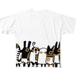 とーとつにエジプト神 ぐるっとぎゅっと12柱 Full graphic T-shirts