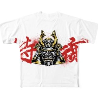 侍魂 Full graphic T-shirts