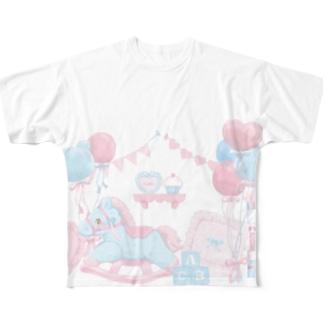 Milky  babyroom Full graphic T-shirts