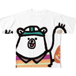 ラグビー部★シロクマくん》文字ナシ Full graphic T-shirts