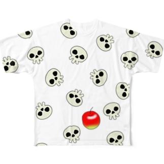 アイlove アップル Full graphic T-shirts