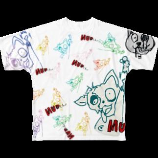 tatsuuの死に体けん Full graphic T-shirts