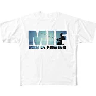 MEN IN FISHING Full graphic T-shirts