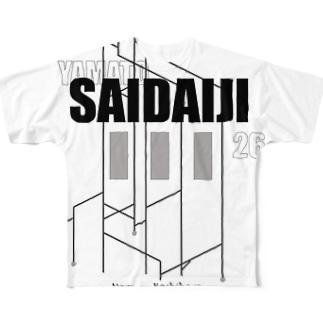 大和西大寺 Full graphic T-shirts