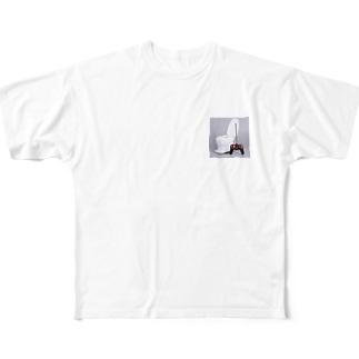 移動式トイレ Full graphic T-shirts