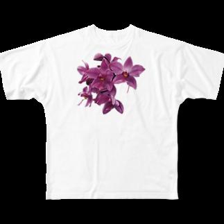 mitoTのmitoki_ART・花 Full graphic T-shirts