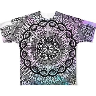 mandala color フルグラフィックTシャツ