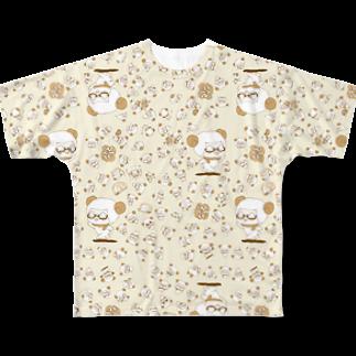 #ひつじです パニック フルグラフィックTシャツ