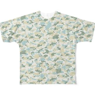 カモフラージュねこうさ フルグラフィックTシャツ