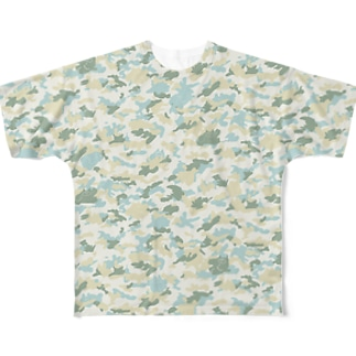 カモフラージュねこうさ Full graphic T-shirts